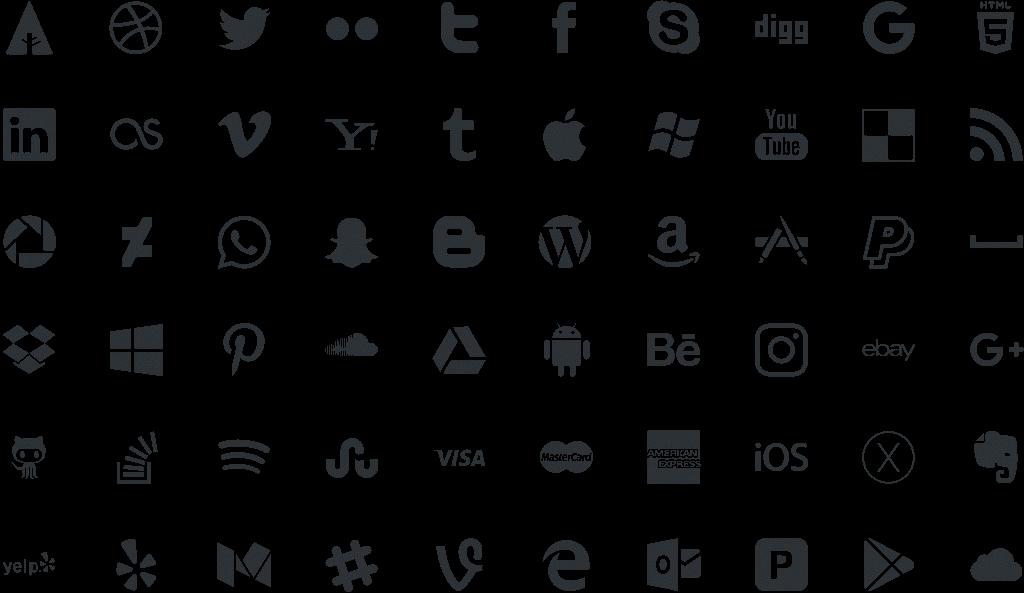 30 бесплатных иконок социальных сетей для сайта